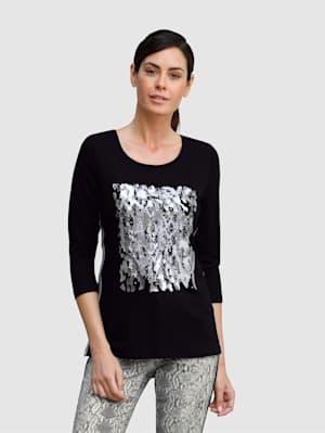 Tričko s fóliovou potlačou v striebornej farbe
