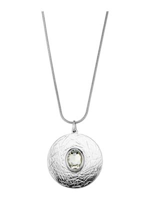Pendentif à pierre de verre et chaîne