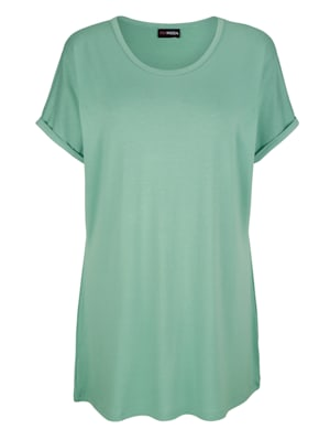 T-shirt long à manches chevauchantes