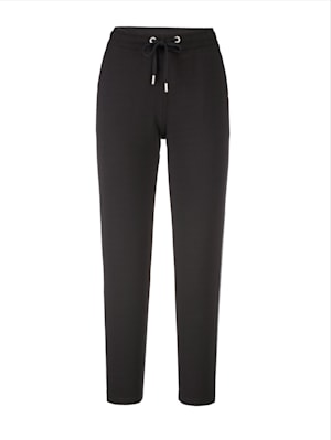 Pull-on trousers with rhinestones
