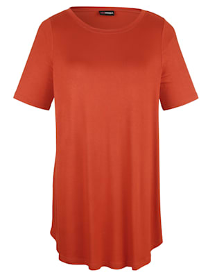 T-shirt long à encolure féminine
