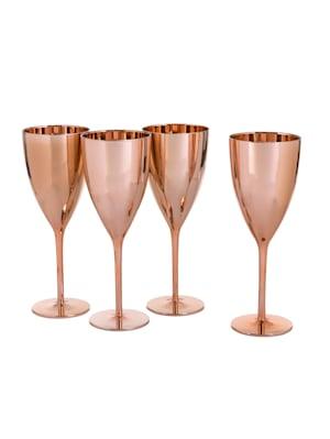 Wein Glas-Set, 4-tlg. Kupferfarben
