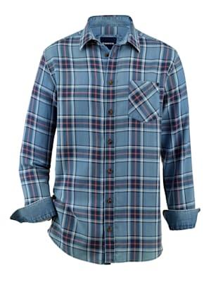 Overhemd in jeanslook