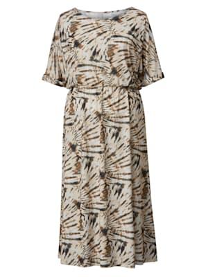 Maxi-jurk met grafische batikprint