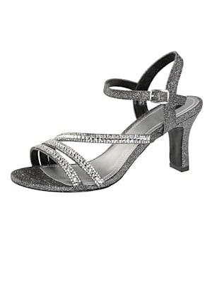 Sandales avec pierres fantaisie élégantes