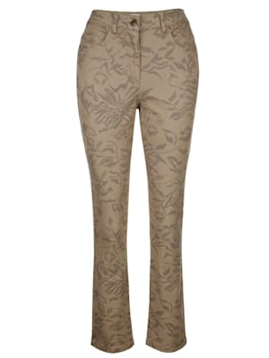 Trousers with a floral print