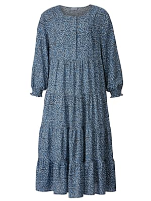 Maxi-jurk met grafisch dessin
