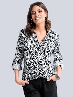 Bluse im excklusiven Dessin nur bei Alba Moda erhältlich