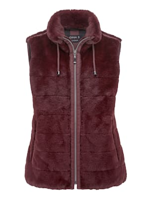 Faux fur gilet made from a soft, cosy fabric