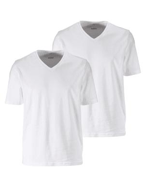 T-Shirt Doppelpack mit V-Ausschnitt