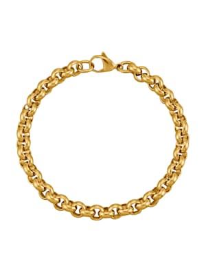 Bracelet maille forçat, doré