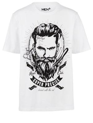 T-shirt met grote print voor
