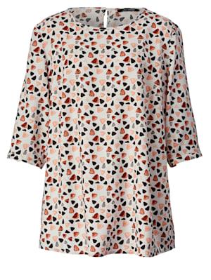 Bluse mit grafischem Muster allover