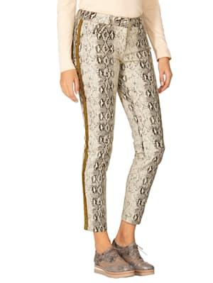 Pantalon à imprimé animal