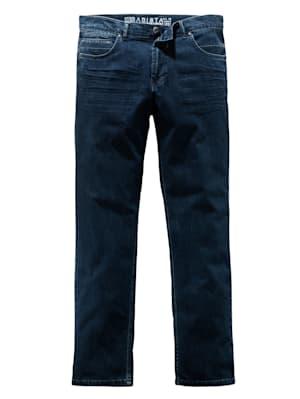 Jeans met modieus crinkle effect