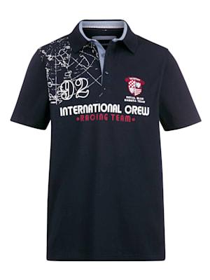 Poloshirt mit maritimen Details