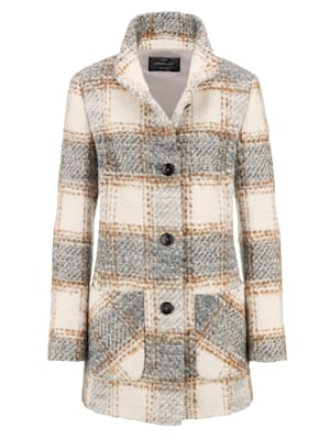 Jacket with a touch of wool
