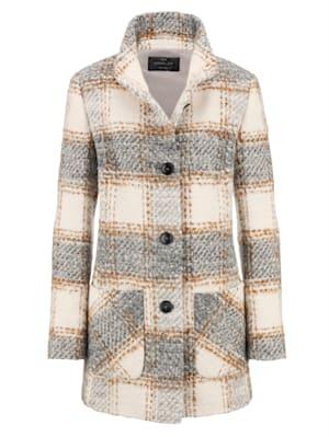 Veste en laine mélangée en laine vierge mélangée