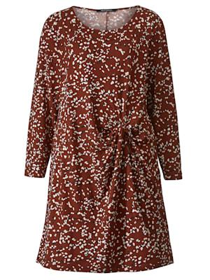 Jersey jurk met minimaldessin