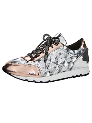 Sneakers à paillettes décoratives