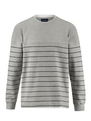 Sweatshirt in feiner Rippenstruktur