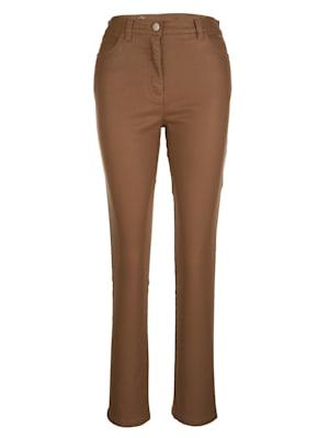 Pantalon 5 poches en cuir synthétique