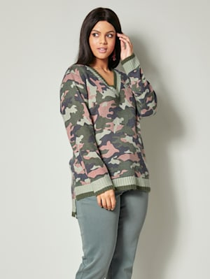 Pullover mit Camouflagedessin