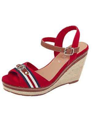Sandales compensées d'inspiration marine