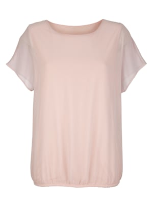Pull-on blouse made from soft chiffon