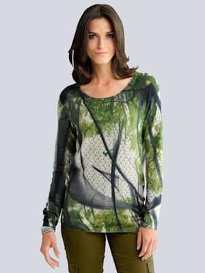Pullover im exklusiven Allover-Print