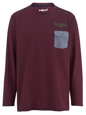 Shirt met een borstzak