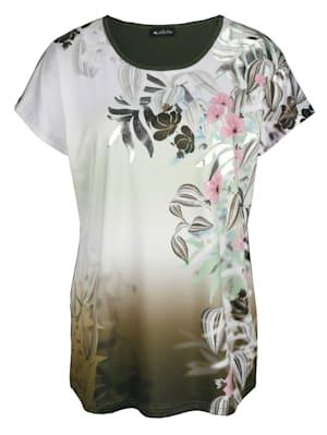 T-shirt à motif floral devant