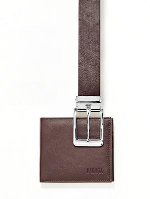Set composé d'une ceinture et d'un porte-monnaie