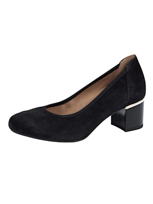 Court shoes with glamorous heel
