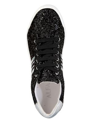 Sneaker in funkelnder Glitter-Optik