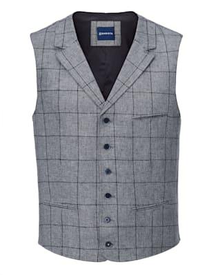 Veston en lin mélangé à motif rayé tissé-teint devant et dos