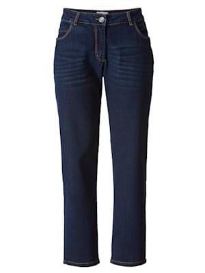 Jeans met imitatieleer