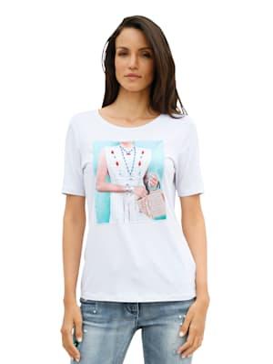 Shirt met opgestikte print voor