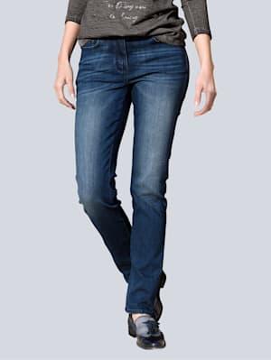 Bauchweg Jeans mit Powermesh-Einsatz
