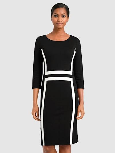 Robe Robe Tricot Laura Kent rouge noir blanc T 44 agréable à porter 001