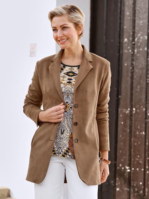 Robe manteau van zacht velours