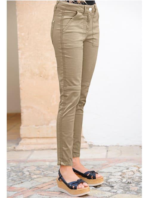 Pantalon avec galon en reps sur la couture côté