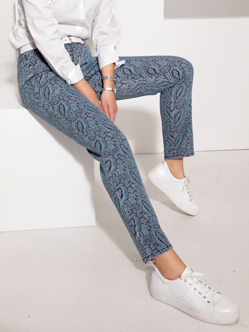 Jeans in modieuze used look