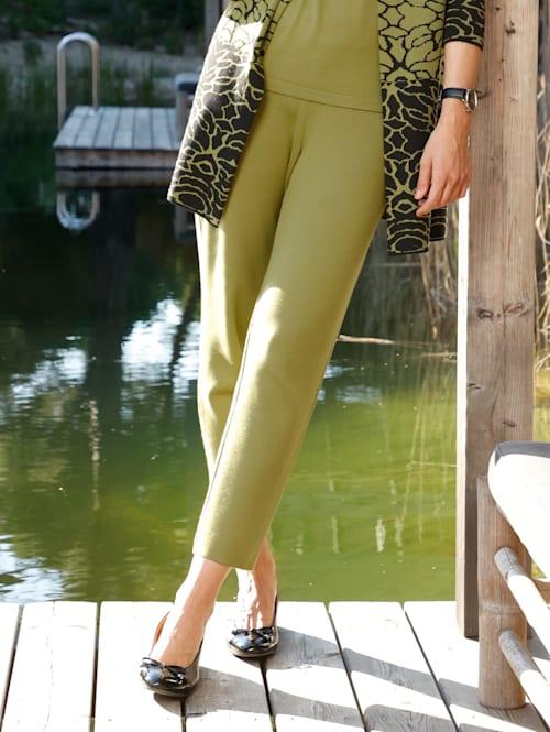 Pantalon en maille de coloris mode