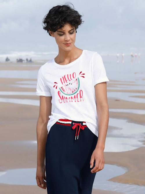 T-shirt à imprimé estival