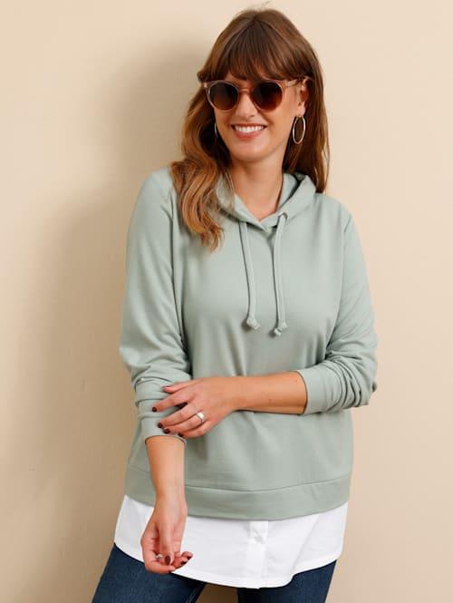 Sweatshirt mit abnehmbarem Bluseneinsatz
