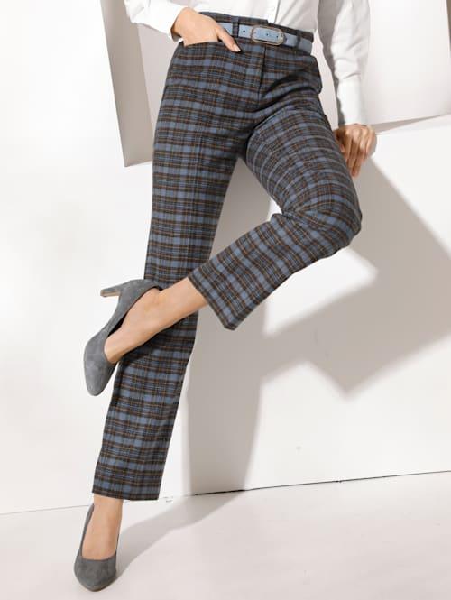 Pantalon à motif à carreaux