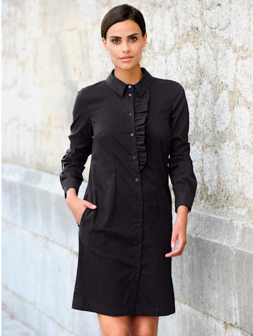 Kleid mit effektvoller Rüschenverarbeitung im Vorderteil