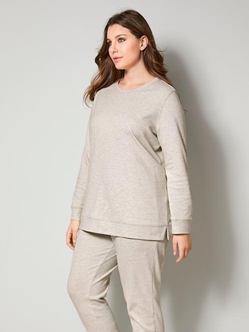 Sweatshirt met modieuze zijsplitten