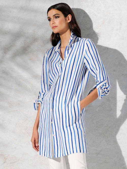 Bluse im exklusiven Alba Moda Streifendessin